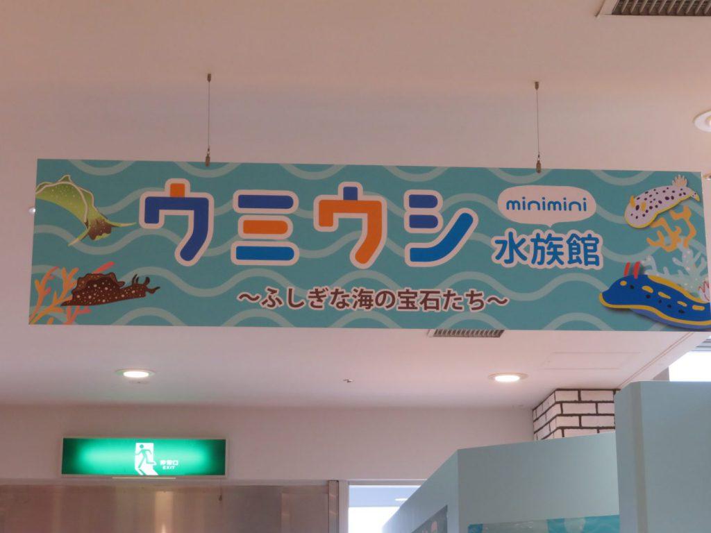 ウミウシ水族館看板