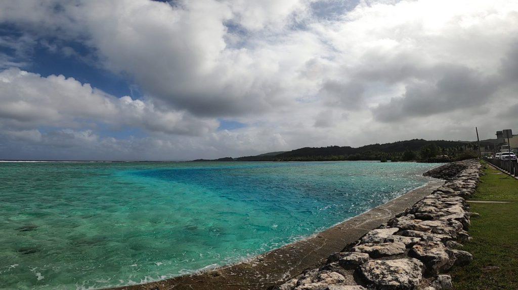 エメラルドバレー手前の海の溝