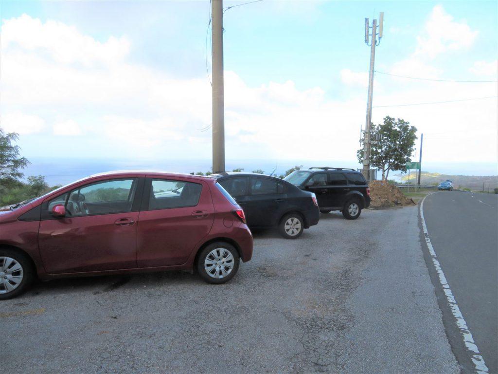 セッティ湾展望台の駐車場