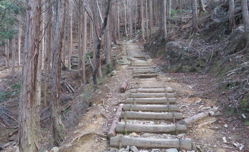 剣尾山に向かう登り階段