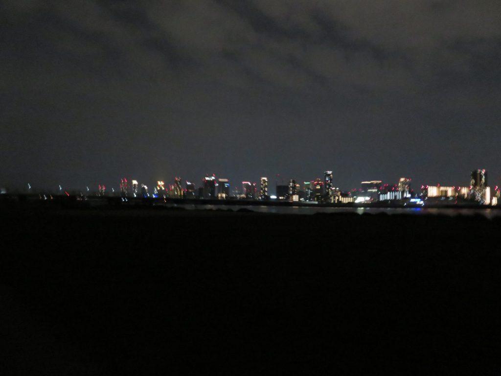 河川敷からの夜景