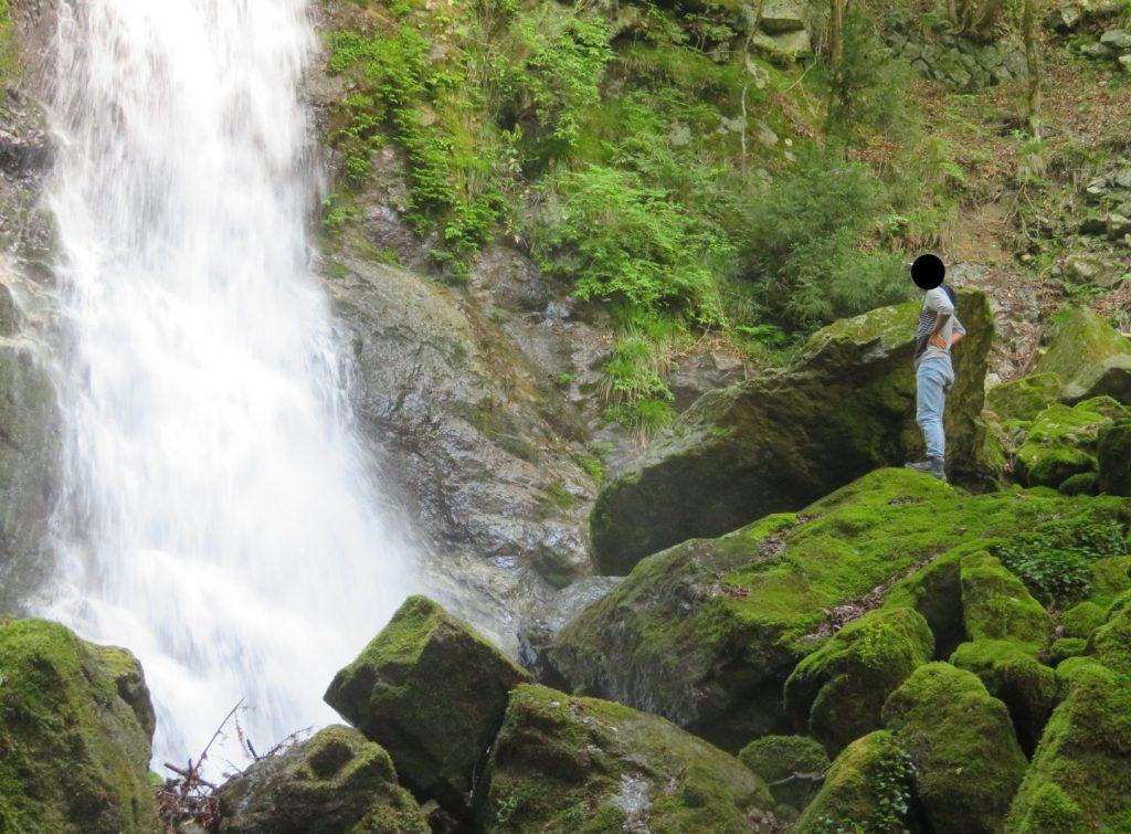 延ヶ滝に接近