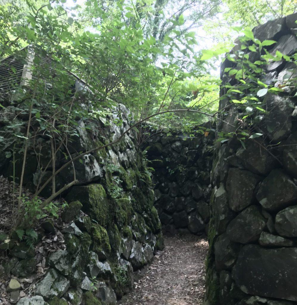 高鉢山風穴までの通路
