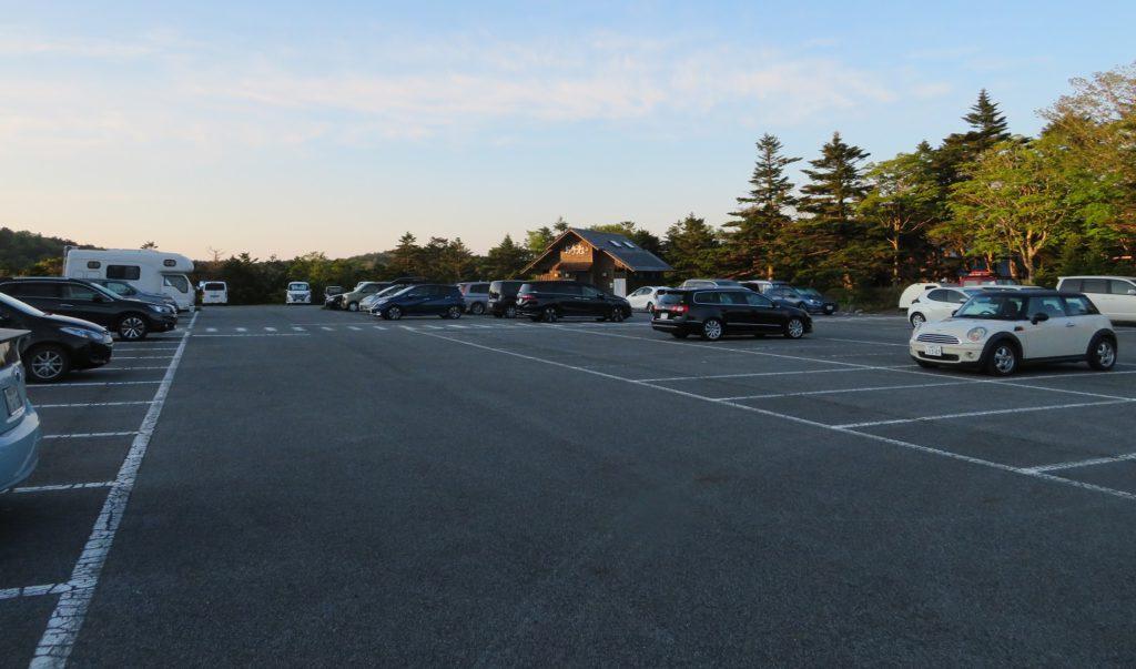 朝の大台原駐車場